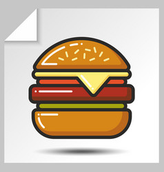 fast food icons 3 vector image