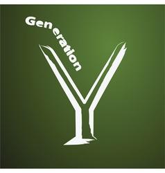 Genaration y lifestyle vector