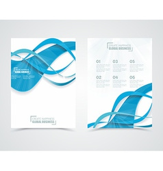 Geometric design business banners with blue waves vector image