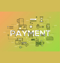 Modern thin line design concept for payment vector