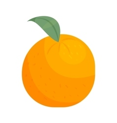 Orange with leaf icon vector image vector image