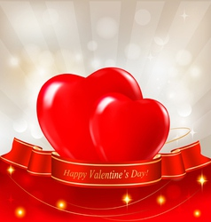 red hearts valentine background vector image vector image