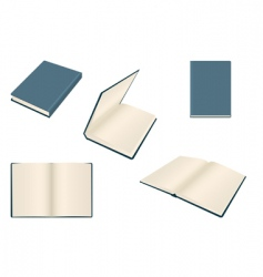 set of books vector image vector image