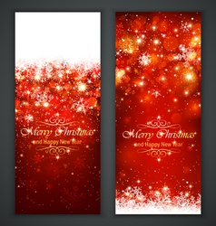 Christmas greeting card vector image