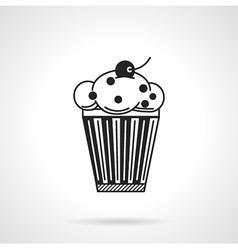 Cupcake with raisins black icon vector image vector image