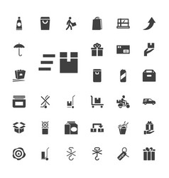 33 package icons vector