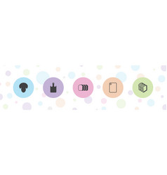 5 sliced icons vector