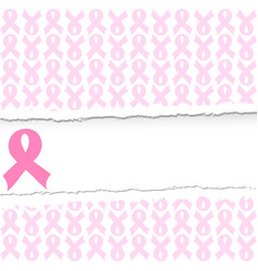 a pink ribbon breast cancer vector image