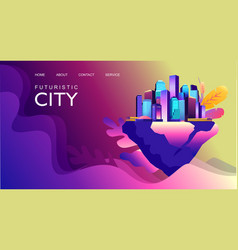 abstract city banner vector image