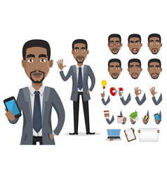 african american business man vector image