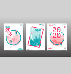 Annual report 201820192020 template layout vector
