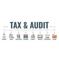 auditing tax accounting banner vector image