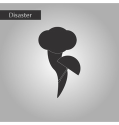 Black and white style icon tornado umbrella vector