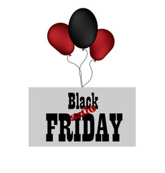 black friday sale promotion banner with red vector image