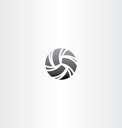 Black volleyball icon design vector