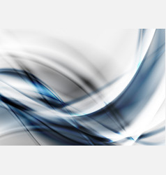 blue grey tech futuristic wavy background vector image