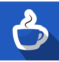 blue information icon - cup with smoke vector image