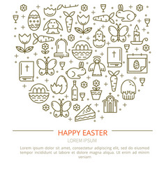 Brochure easter with your text vector