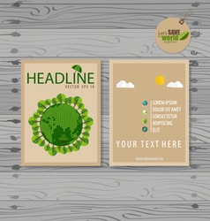 Brochure Flyer design Layout template Ecology vector image