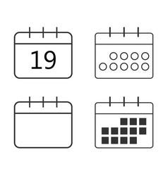 calendar icon set flat vector image