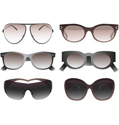 Collection of sunglasses vector image