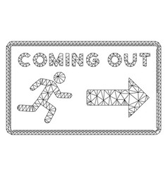 Coming out rectangle polygonal frame mesh vector