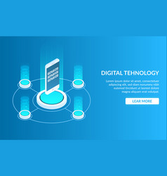 concept image of digital technology mobile phone vector image
