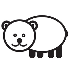Cute animal bear - vector image