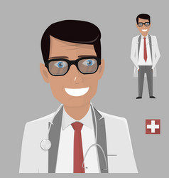 doctor character cartoon vector image