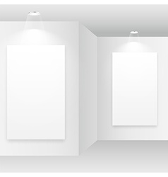 empty white room with picture frame vector image