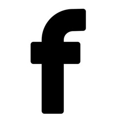 F initial letter for logo company isolated vector