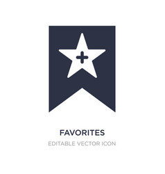 Favorites icon on white background simple element vector