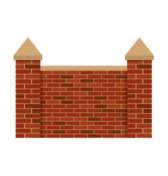 Fence bricks vector