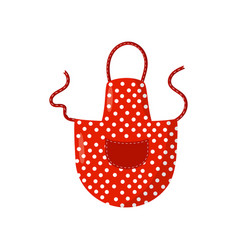 flat icon of red retro polka dot apron vector image