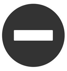 Forbidden flat icon vector