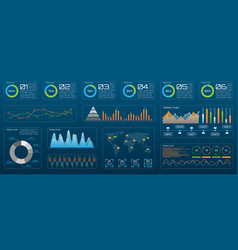 futuristic technology interface for presentation vector image