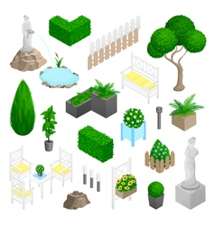 Garden Park Landscape Elements vector image