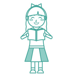 Girl and book design vector