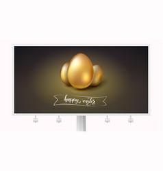 golden eggs for celebration of happy easter vector image