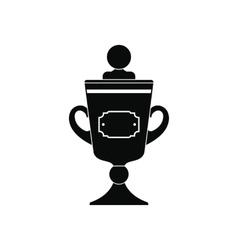 Golden trophy black simple icon vector image