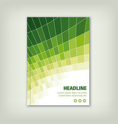 Green business cover brochure design with lines vector