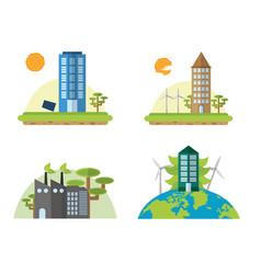 green energy and cities vector image