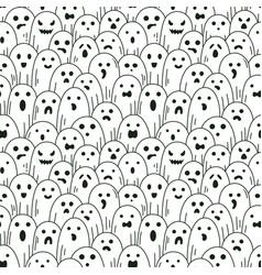 halloween ghost pattern spooky linear vector image