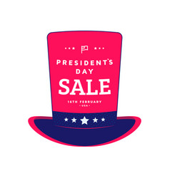 happy presidents day icon or label design vector image