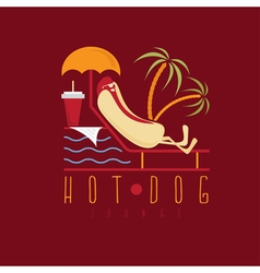 hot dog lounge concept design template vector image
