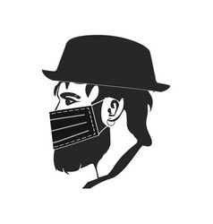 In a flat style hipster vector