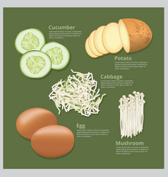 Ingredient food vector
