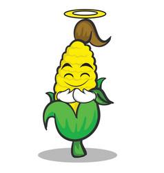 Innocent sweet corn character cartoon vector