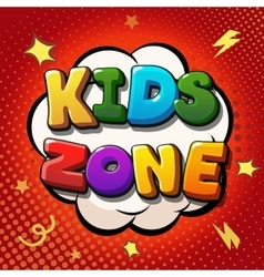 Kids zone banner design children playground zone vector