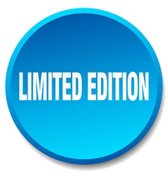 Limited edition blue round flat isolated push vector